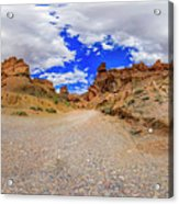 Spherical Panorama From A Canyon Charyn Acrylic Print