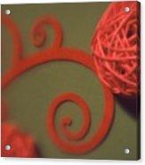 Spiral Ball With Felt Acrylic Print