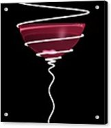Spiral Wine Glass Acrylic Print