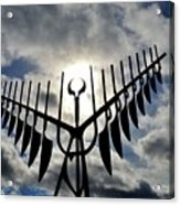 Spirit Catcher Against The Sky  Acrylic Print