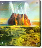 Spitting-fly Geyser In Nevada Acrylic Print
