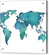 Spray Paint Map Acrylic Print
