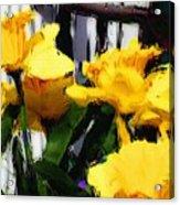 Spring Rain Through Old Glass Acrylic Print