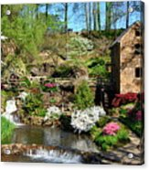 Springtime At The Old Mill Acrylic Print