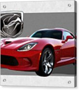 S R T  Viper With  3 D  Badge  Acrylic Print