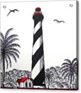 St Augustine Lighthouse Christmas Card Acrylic Print