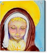 St. Clare Of Assisi Acrylic Print by Susan  Clark