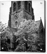 St Nicholas Church Including Graveyard Containing Grave Of Mildred Washington Grandmother Of George  Acrylic Print