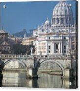 St Peters Basilica, Rome, Italy Acrylic Print