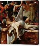 St Sebastian Thrown Into The Cloaca Maxima Acrylic Print