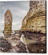 Stack And Chalk Cliff Acrylic Print