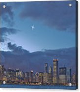 Star Over Chicago Acrylic Print