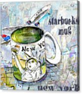 Starbucks Mug New York Acrylic Print