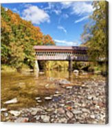 State Road Covered Bridge Acrylic Print