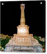 Statue Of Dom Pedro Iv Acrylic Print