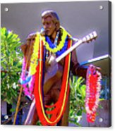 Statue Of, Elvis Presley - Honolulu, Hawaii  Acrylic Print