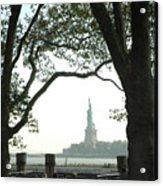 Statue Of Liberty From Ellis Island Acrylic Print by Frank Mari