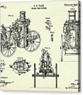 Steam Fire Engine-1896 Acrylic Print