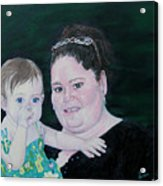 Stephanie And Ella Acrylic Print