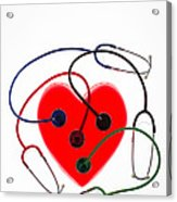 Stethoscopes And Plastic Heart Acrylic Print