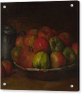 Still Life With Apples And A Pomegranate Acrylic Print