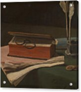 Still Life With Book Papers And Inkwell Acrylic Print