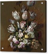 Still Life With Flowers Acrylic Print