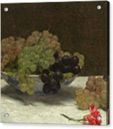 Still Life With Grapes And A Carnation Acrylic Print