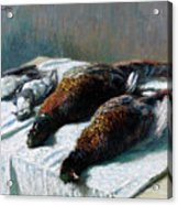 Still Life With Pheasants And Plovers Acrylic Print