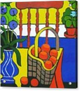 Still Life With Red Chair And Oranges Acrylic Print
