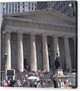 Stock Exchange On Wall Street Acrylic Print