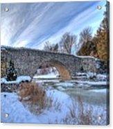 Stone Bridge At Webster Falls Acrylic Print