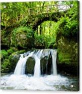 Stone Bridge Over River Acrylic Print