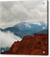 Storm Brewing At Garden Of The Gods Acrylic Print