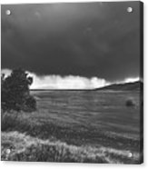 Storm Brewing Over The Mud Flats Acrylic Print