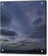 Storm Over Cleveland Acrylic Print