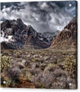 Stormy Day At Red Rock Acrylic Print