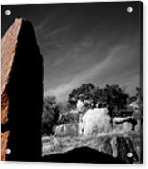 Straight Edge Boulder Enchanted Rock Texas Acrylic Print