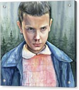 Stranger Things Eleven Portrait Acrylic Print