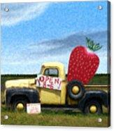 Strawberry Truck Acrylic Print