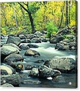 Stream In Cottonwood Canyon, Sedona Acrylic Print