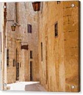 Street Sceane Mdina,malta Acrylic Print
