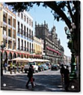 Streets Of Puebla 5 Acrylic Print