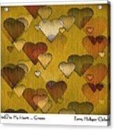 Striae To My Heart ... Greens Acrylic Print