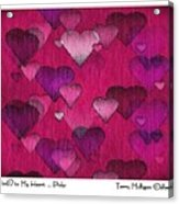 Striae To My Heart ... Pinks Acrylic Print