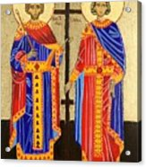 Sts. Constantine And Helen Acrylic Print by Amy Reisland-Speer