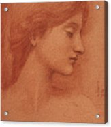 Study Of A Female Head Acrylic Print