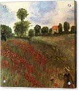 Study Of Monet Acrylic Print