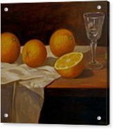 Study Of Oranges Acrylic Print