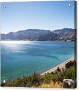 Stunning Hawea Lake In New Zealand Acrylic Print